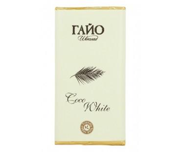 Бял шоколад с кокосово мляко, веган, Гайо, 80 гр.