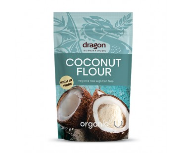 Био кокосово брашно 200гр. Dragon Superfoods